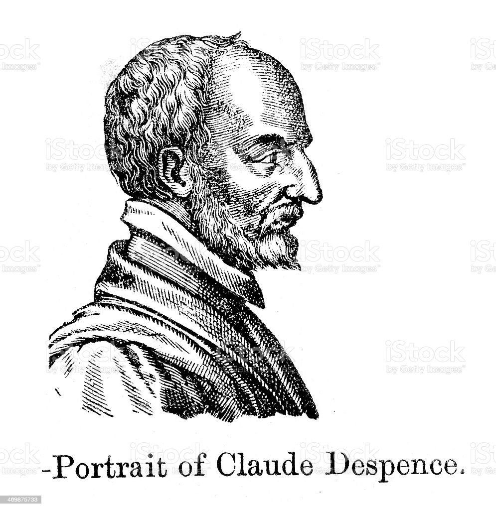Claude D'Espence royalty-free stock vector art