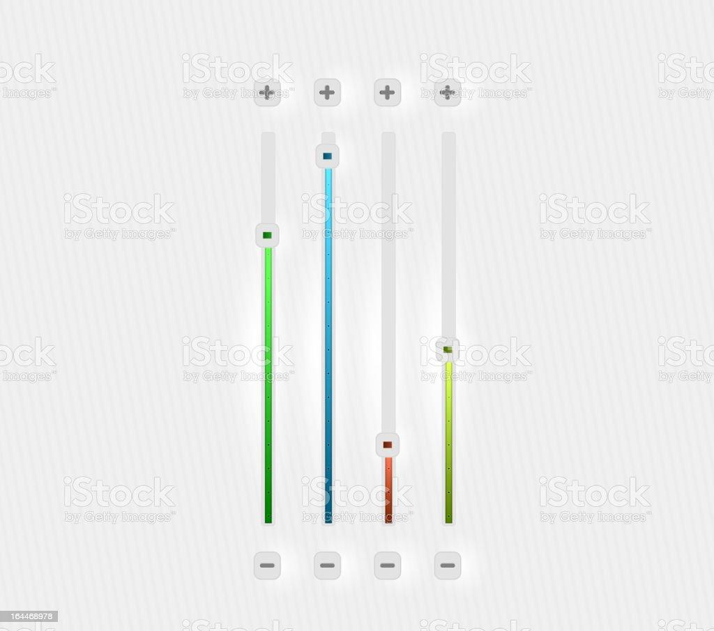 Clean style vector sliders vector art illustration