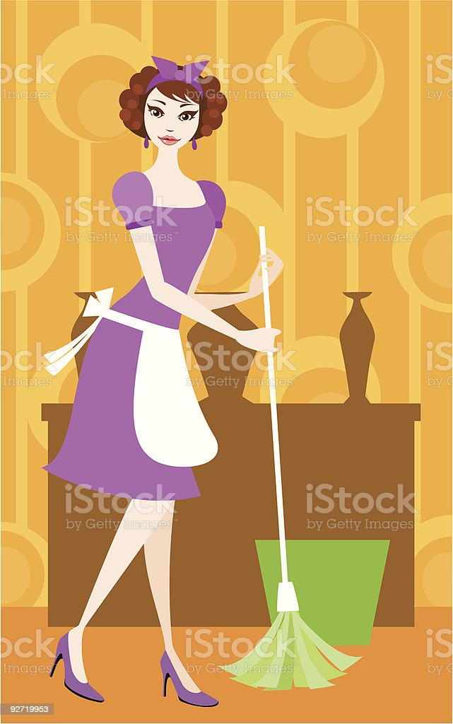 Cleaning Day vector art illustration
