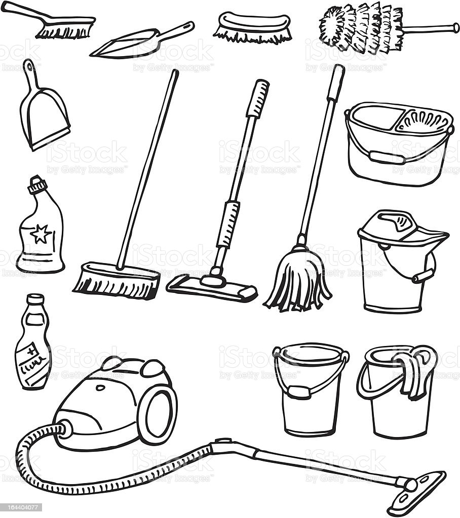 Cleaning equipment royalty-free stock vector art