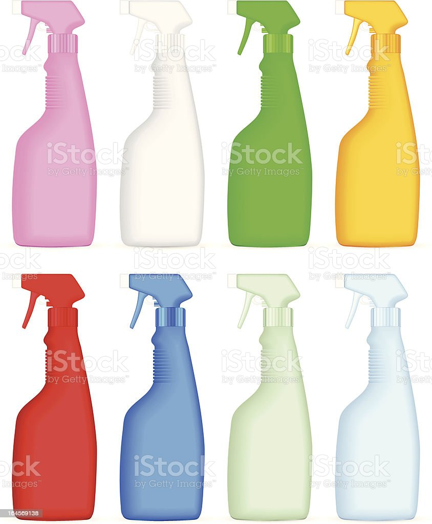 cleaning spray bottle royalty-free stock vector art