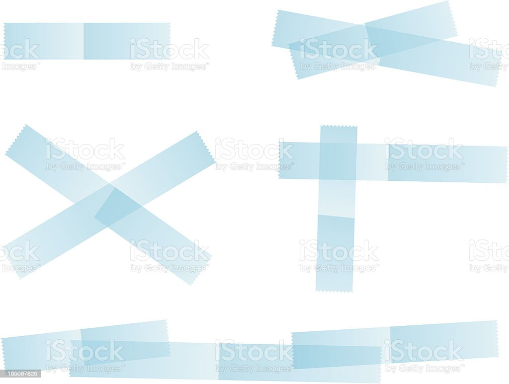 clear tape royalty-free stock vector art