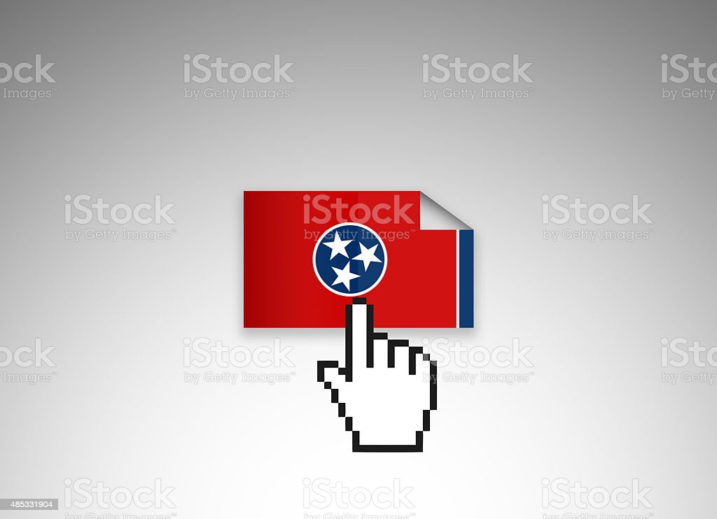 Click Tennessee Flag File vector art illustration