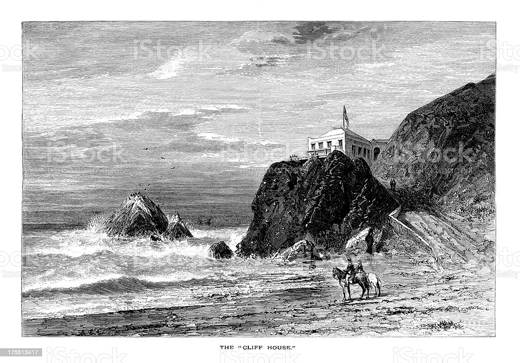 Cliff House, San Francisco | Historic American Illustrations royalty-free stock vector art