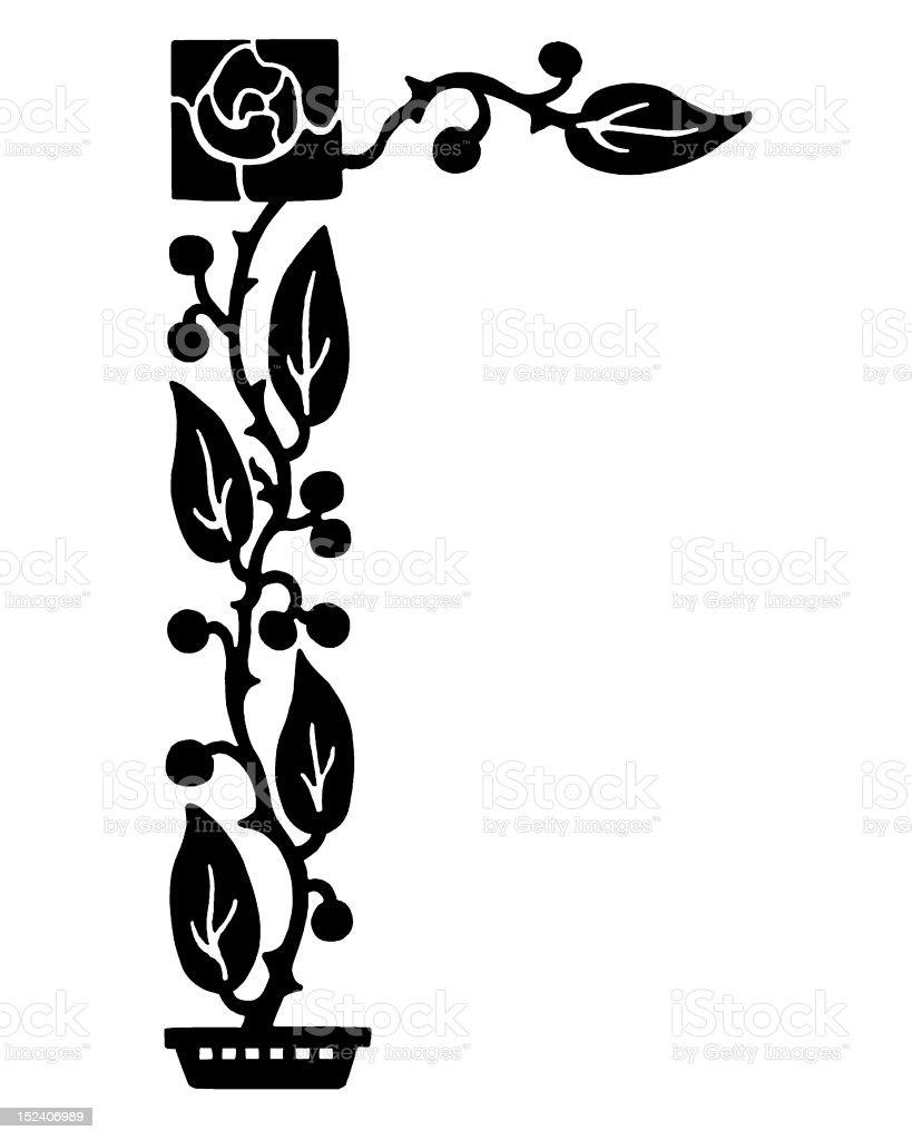 Climbing Plant royalty-free stock vector art