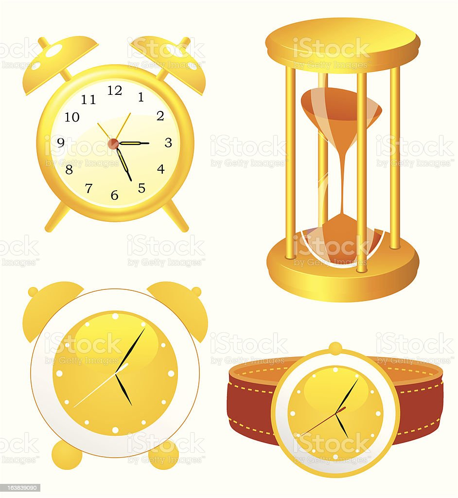 Clock collection royalty-free stock vector art