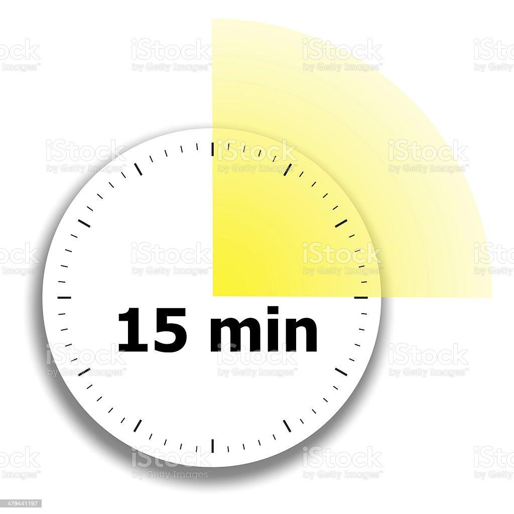 clock face stopwatch vector art illustration