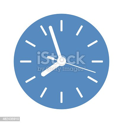 clock icon in blue circle stock vector art 482435910 | istock
