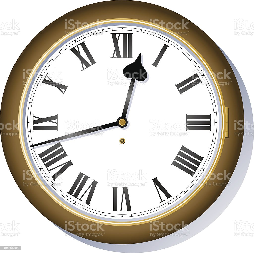 Clock royalty-free stock vector art