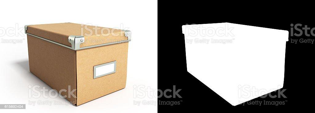 Close Office paper box for documents 3d illustration vector art illustration