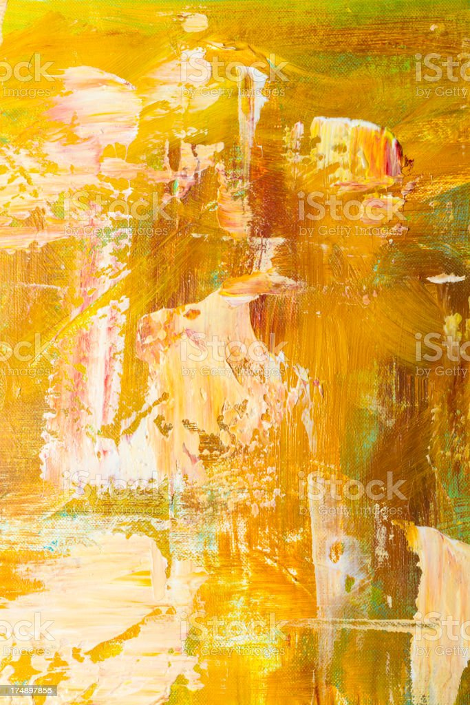 Close Up Of Thick Acrylic Paint On A Canvas vector art illustration