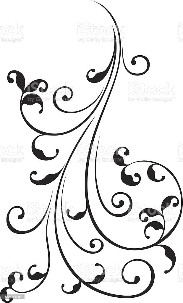 Close-up of a floral pattern royalty-free stock vector art