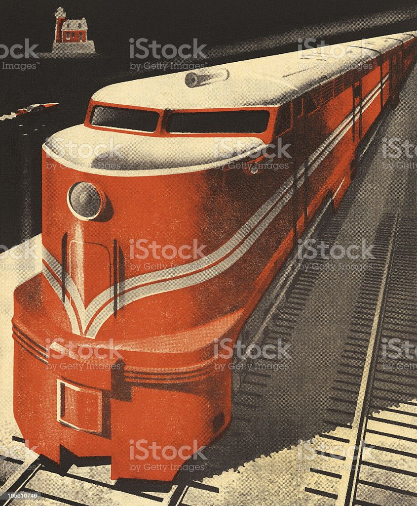 Closeup of a Train royalty-free stock vector art