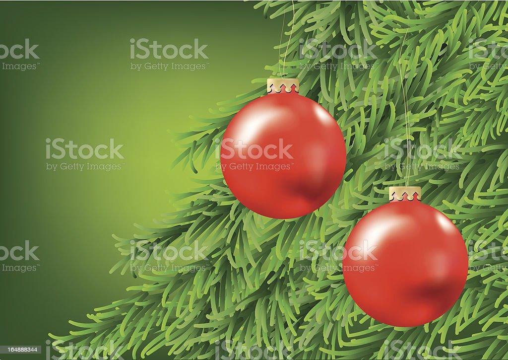 Closeup of christmas balls royalty-free stock vector art