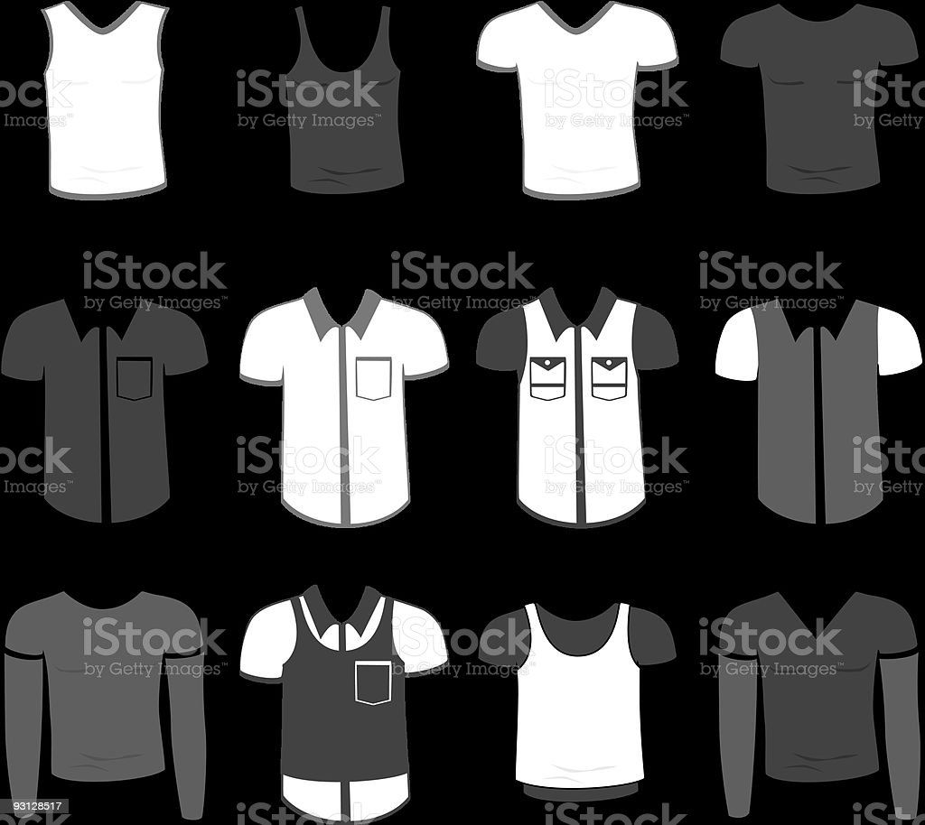 Clothes for man royalty-free stock vector art