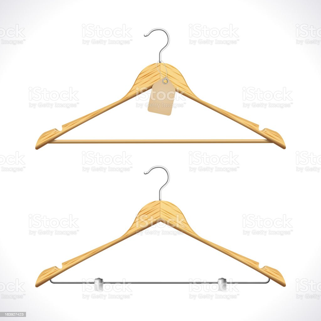 Clothes Hangers royalty-free stock vector art