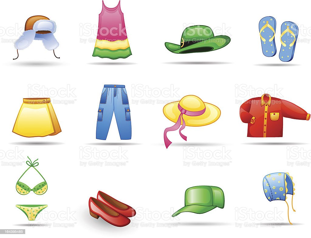 Clothes icon set royalty-free stock vector art