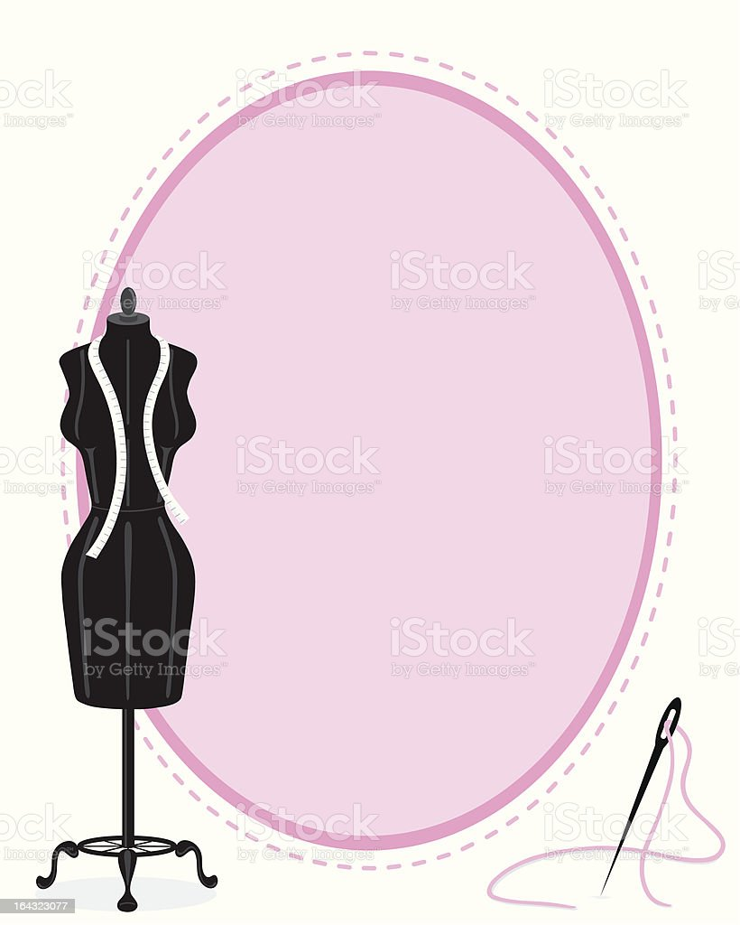 Clothes Mannequin & Stitched Frame royalty-free stock vector art