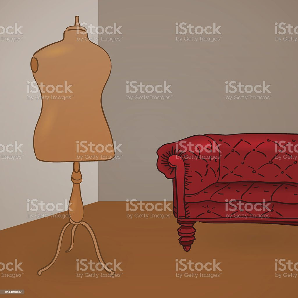 Clothing Mannequin Illustration royalty-free stock vector art