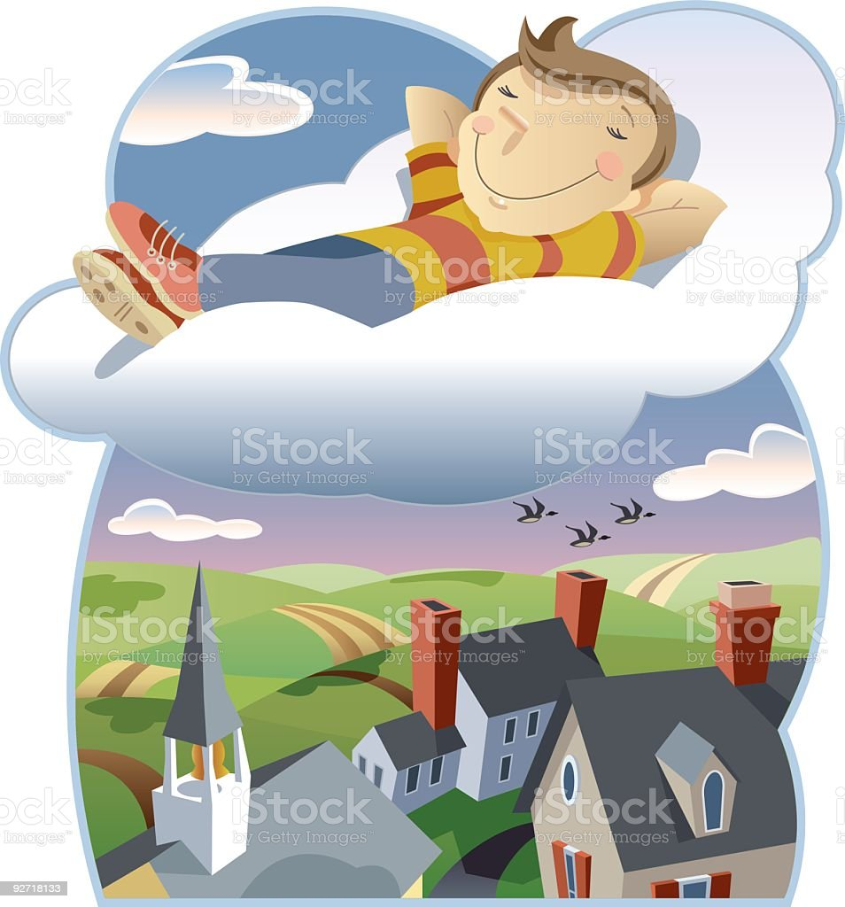 Cloud 9 royalty-free stock vector art