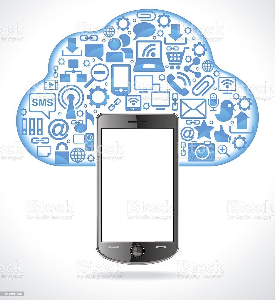 Cloud communication royalty-free stock vector art