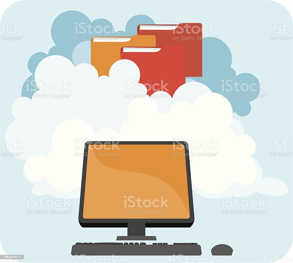 Cloud Computing (Desktop) royalty-free stock vector art