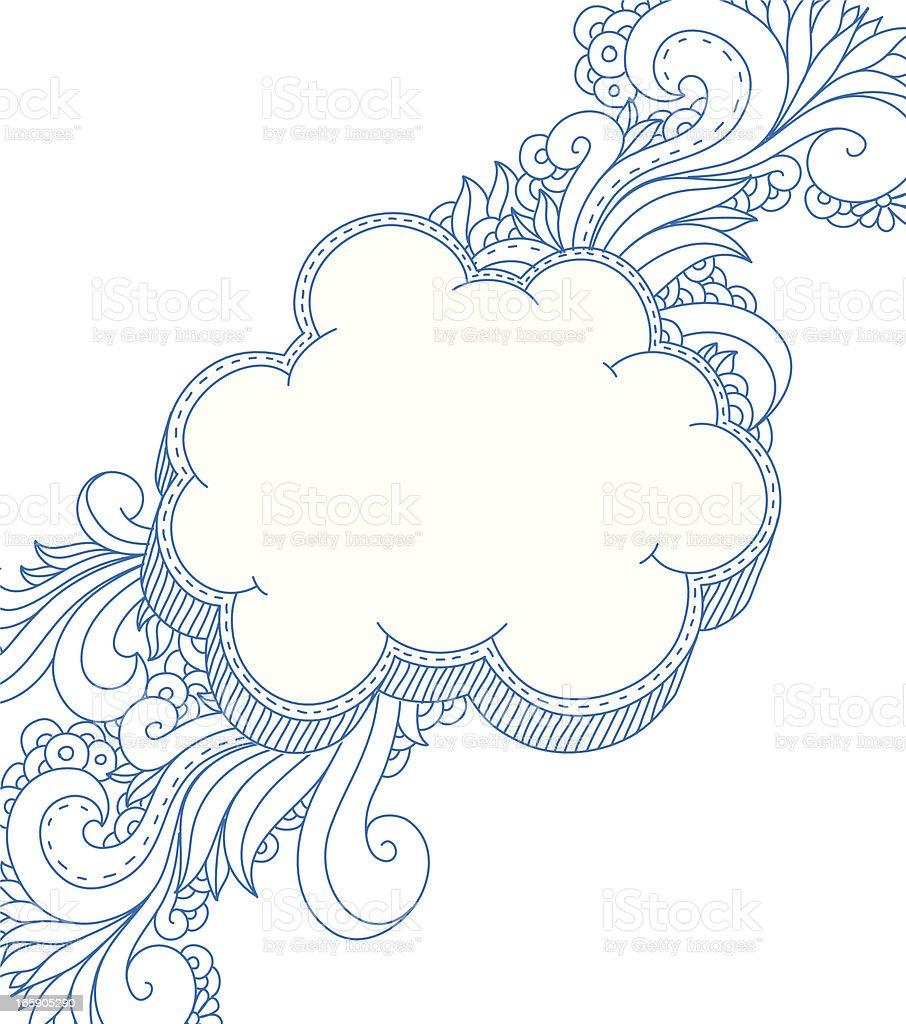 cloud frame royalty free stock vector art