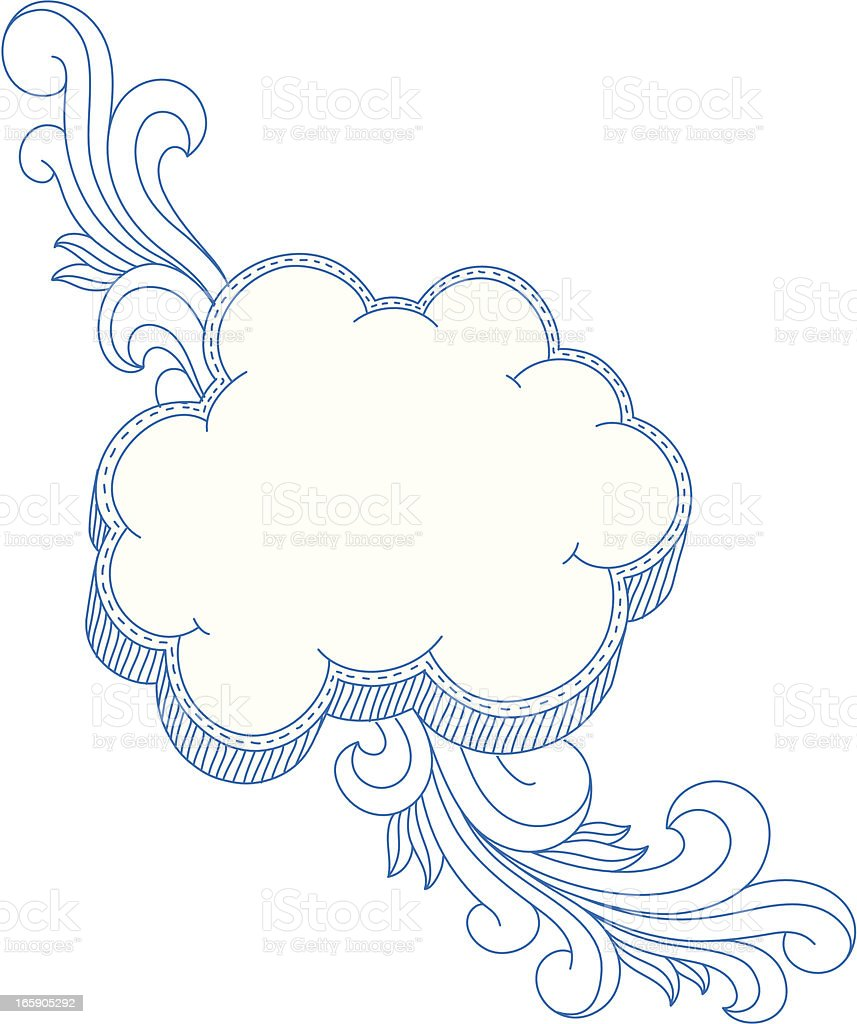 Cloud Frame vector art illustration
