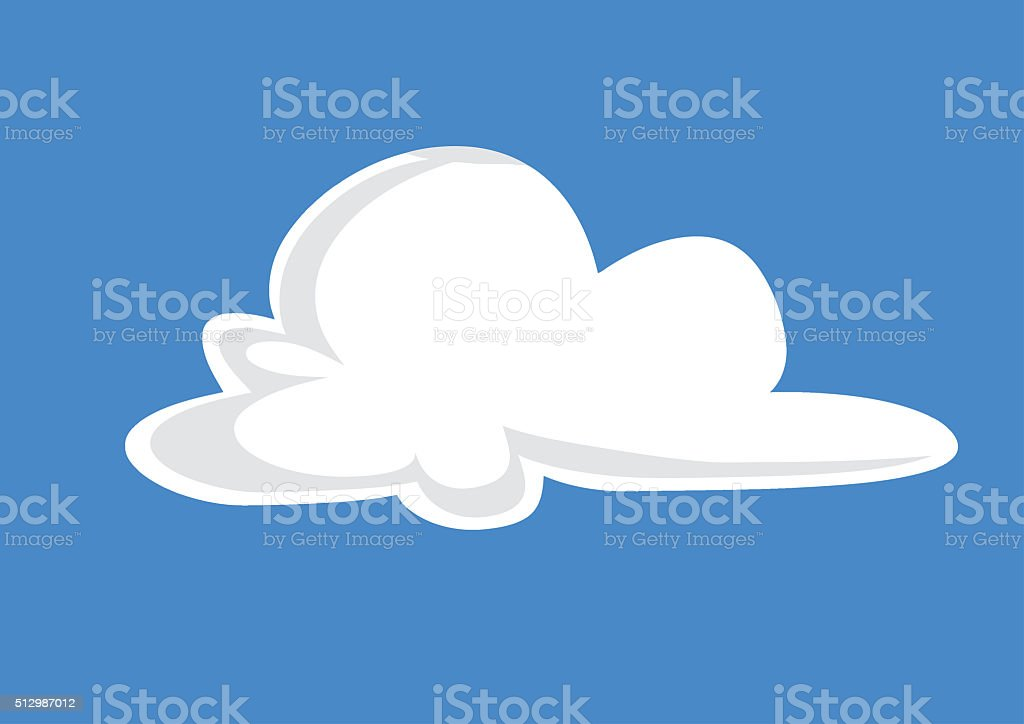 cloud illustration - cloud sketch - cloud drawing stock photo