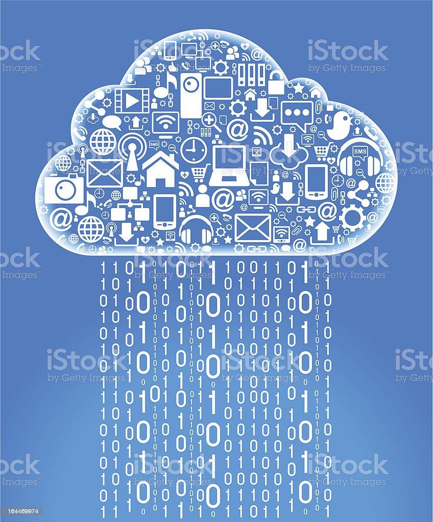 cloud network royalty-free stock vector art