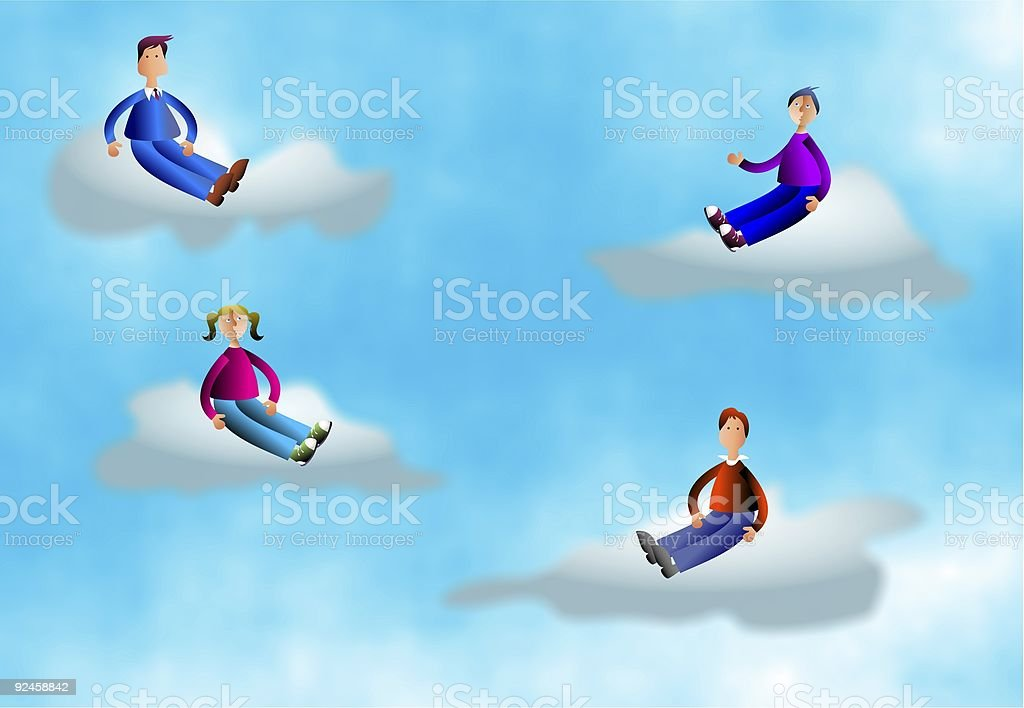 Cloud People royalty-free stock vector art