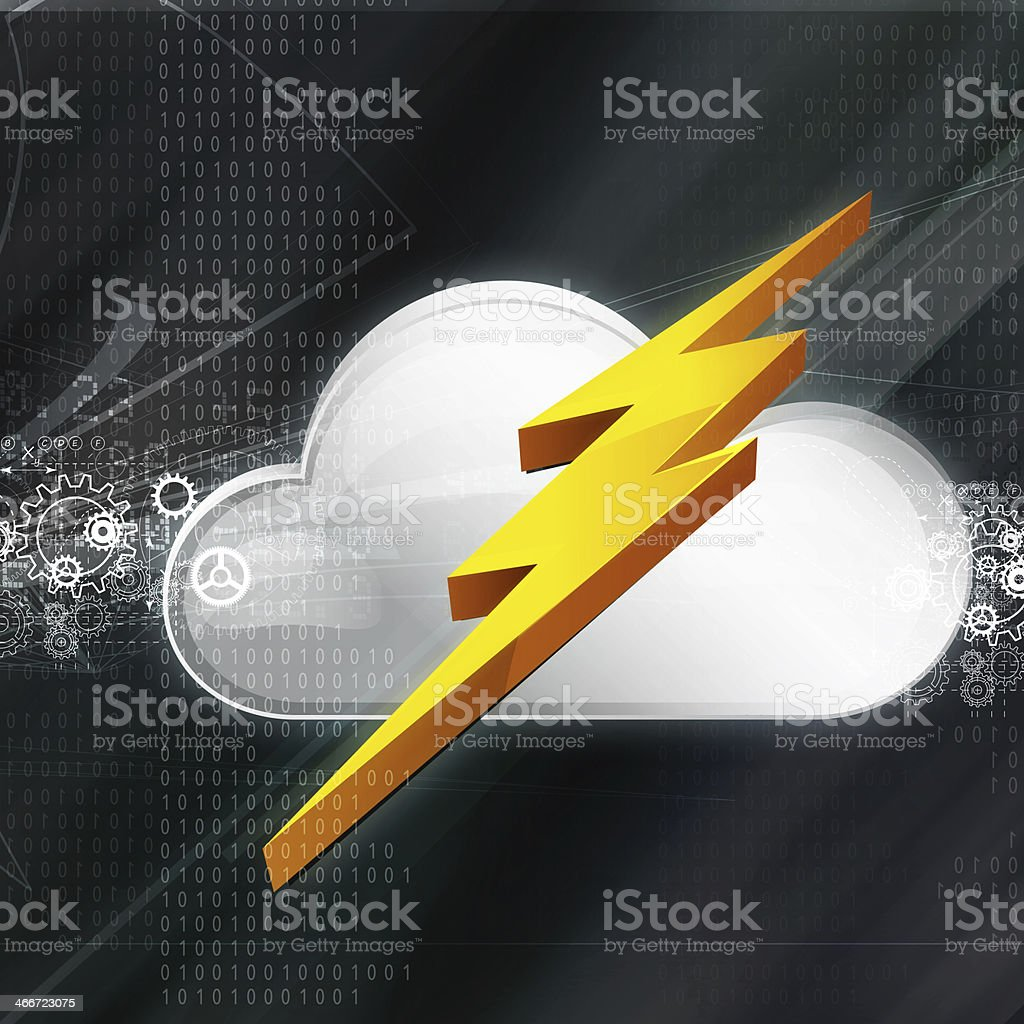 Cloud Technology  Abstract Background royalty-free stock vector art