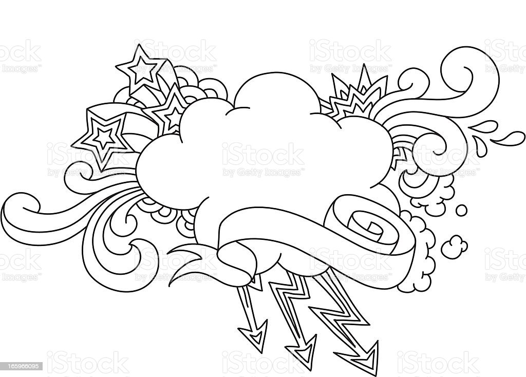 Cloud Weather Message royalty-free stock vector art