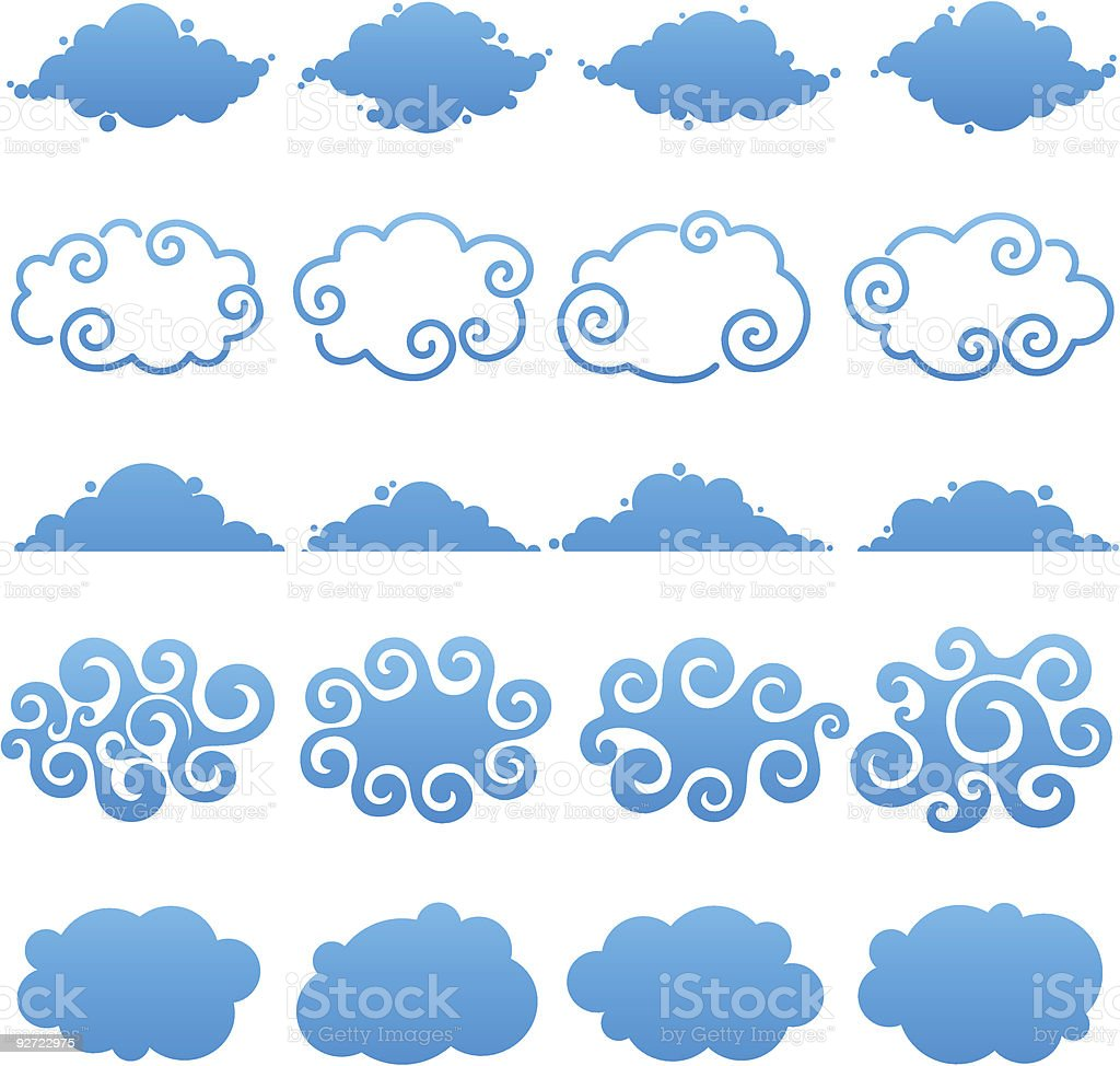Clouds. Elements for design. royalty-free stock vector art