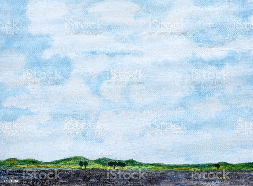 Cloudy Background royalty-free stock vector art
