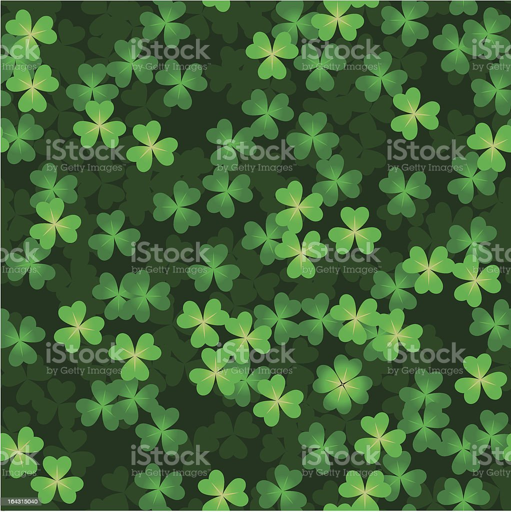 Clover background royalty-free stock vector art