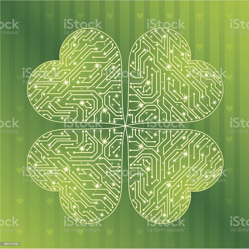 Clover, St. Patrick's day background vector art illustration