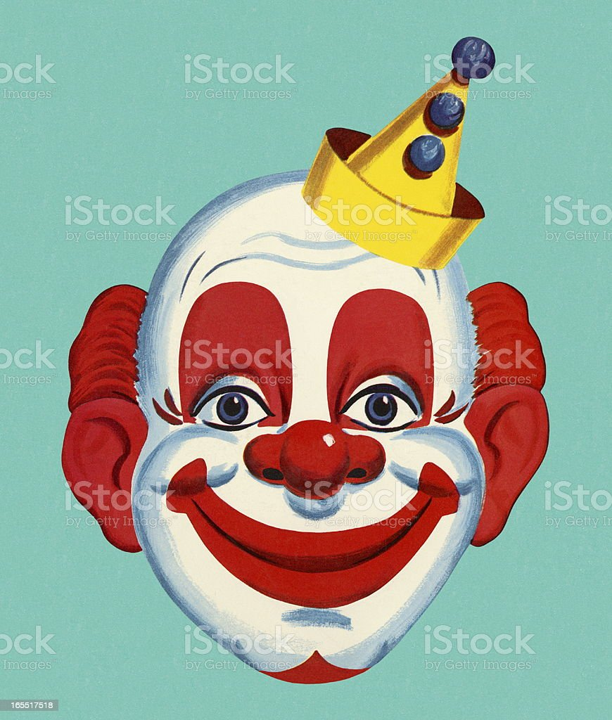 Clown Face vector art illustration
