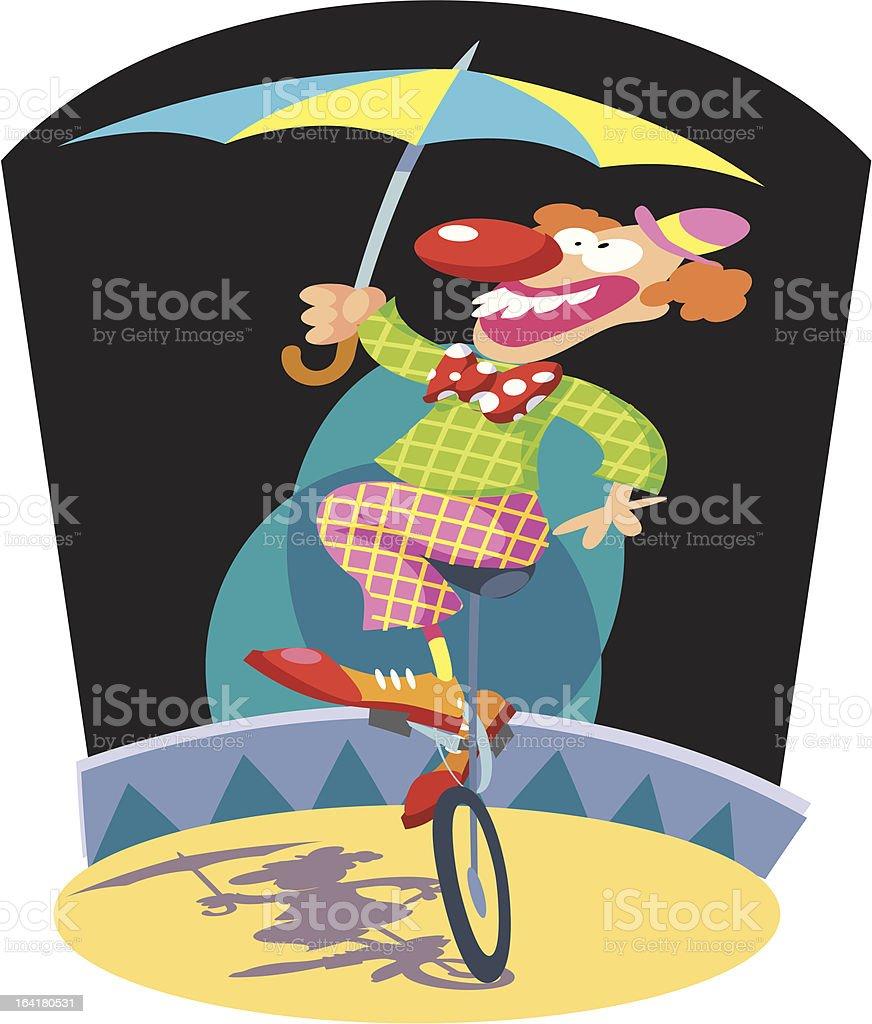 Clown in Circus ring vector art illustration
