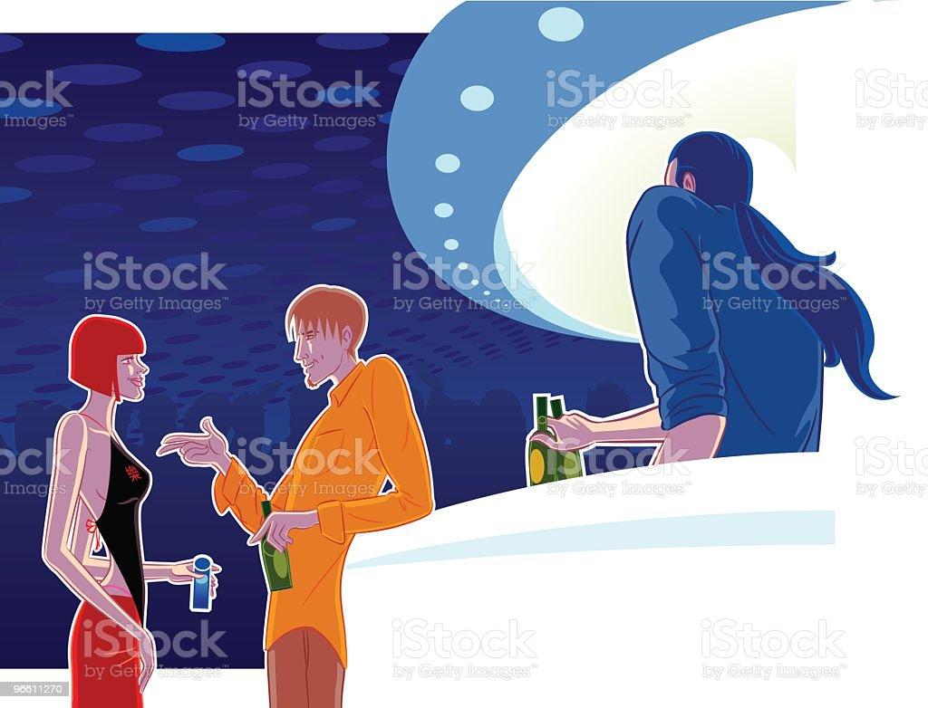 clubbing vector art illustration