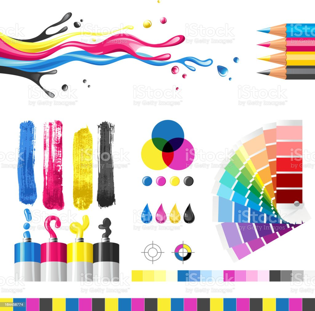 cmyk vector art illustration