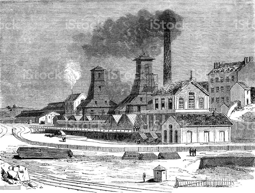 coal mine royalty-free stock vector art