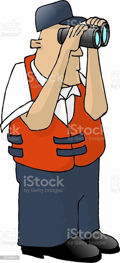US Coast Guard royalty-free stock vector art