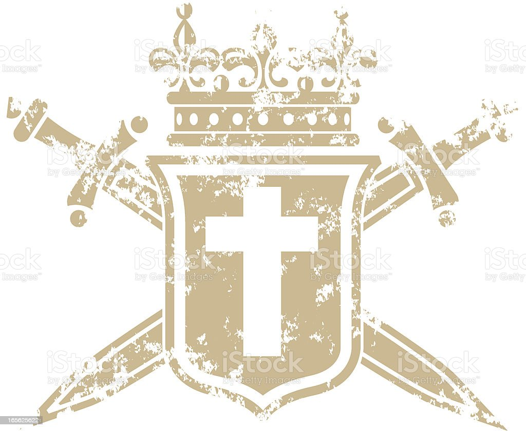 Coat of arms grunge three royalty-free stock vector art