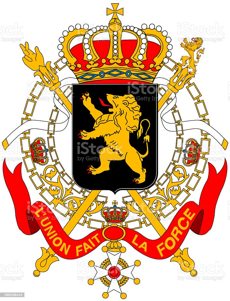 Coat of arms of Belgium vector art illustration
