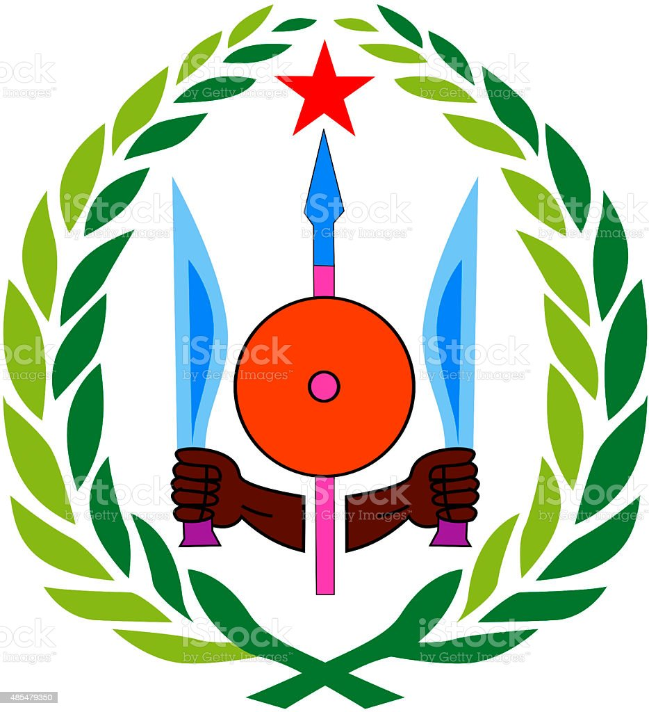 Coat of arms of Djibouti vector art illustration
