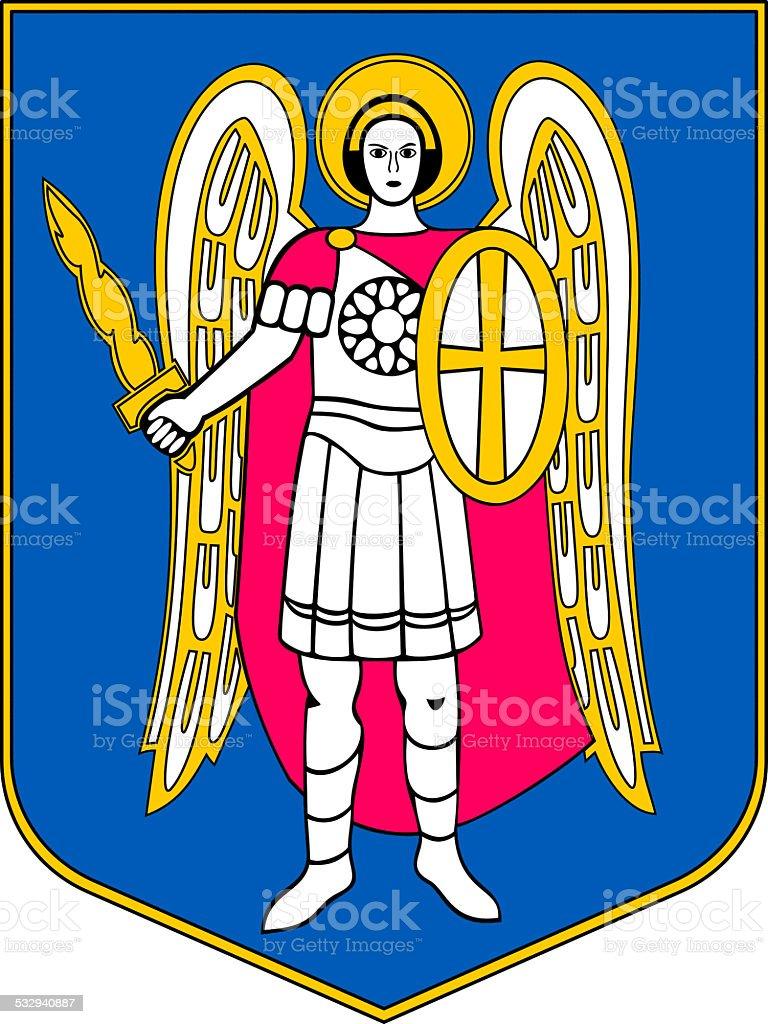 Coat of arms of Kiev vector art illustration