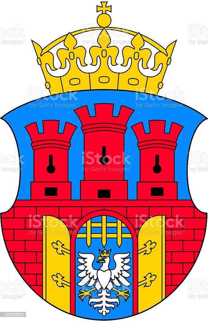 Coat of arms of Krakow vector art illustration