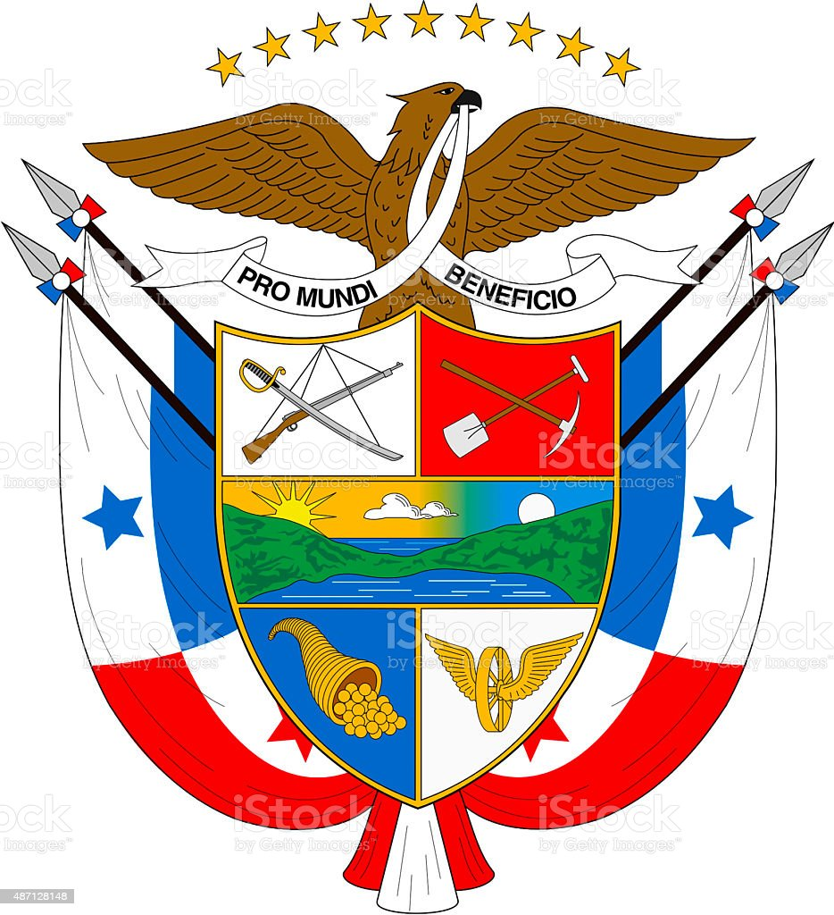 Coat of arms of Panama vector art illustration
