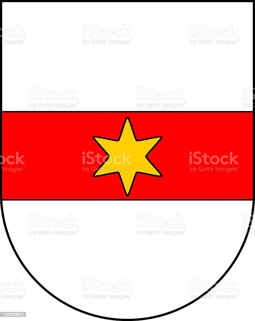 Coat of arms of the city Bolzano vector art illustration